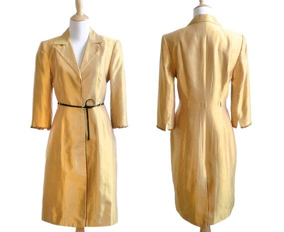 Lela Rose Marigold Silk Embellished Coat Dress - image 3