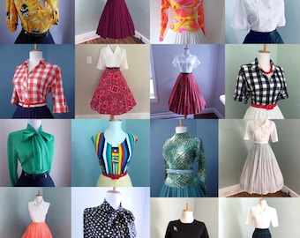 5013a73bf23 Cheap Womens Vintage Clothing   Bulk Vintage   Vintage Clothing Lot   Wholesale  Vintage Clothing   Vintage Blouse   Vintage Skirt 10 for 99