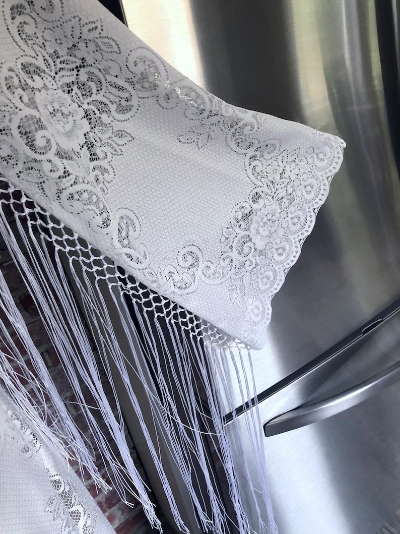 BoHo 70s Sheer Crochet LACE Angel Bell Sleeve HIPPIE Short Wedding MaXi Dress Medium Vintage White Lace Hippie Wedding Dress with Fringe