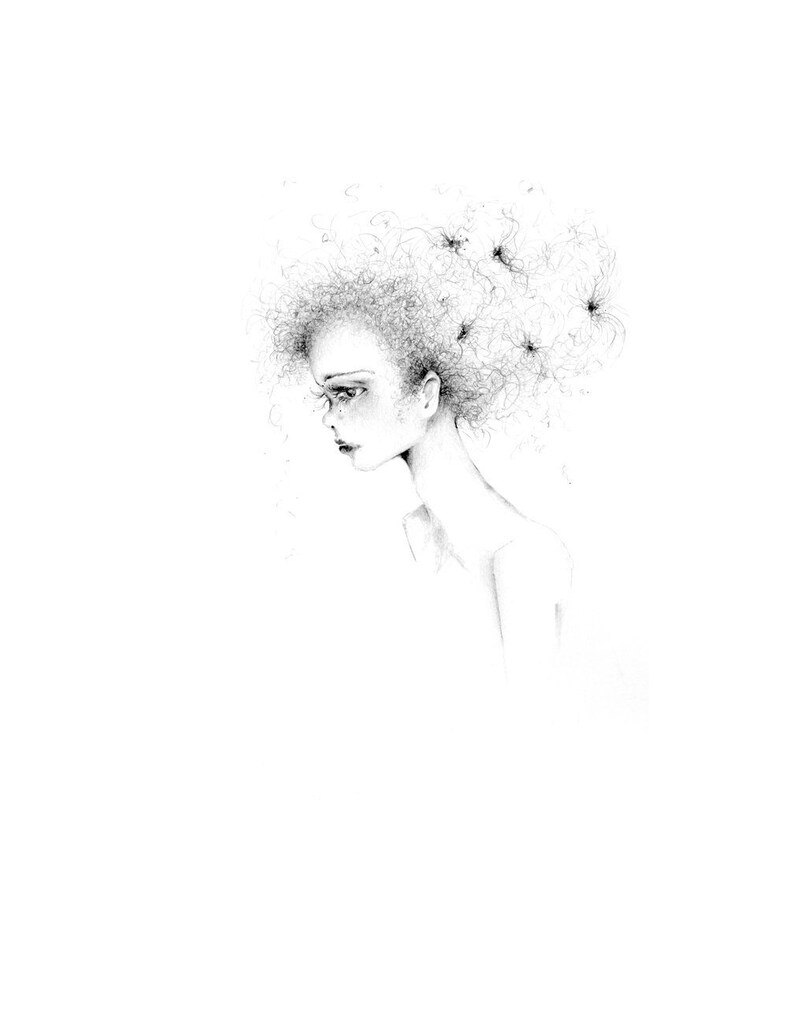 Disegno Minimalista Originale Bianco E Nero Di Un Ragazza Ooak Schizzo Di Una Ragazza Arte Minimalista Moderno Art Black E White Home Decor Darte