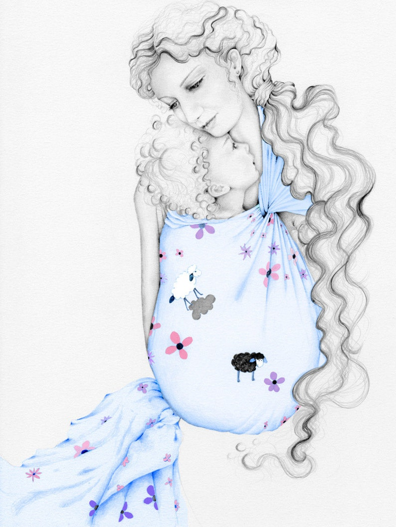 d5bb1e42e21 Baby Sling Babywearing Portrait Mother s Day Gift for Mom
