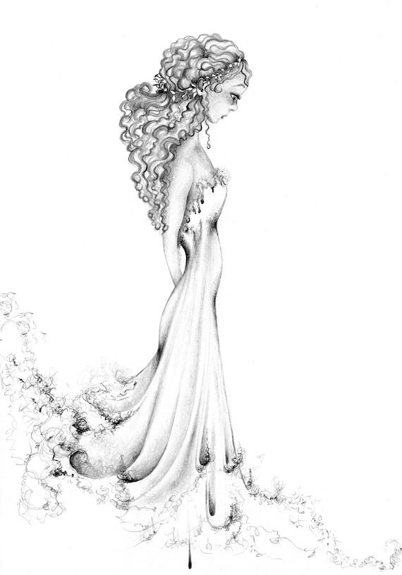 Dessin D Une Fille Magnifique Dessin Jolie Fille D Impression Fine Art D Une Jeune Fille Minimaliste Art Minimaliste Wall Art Filles Chambre Fille