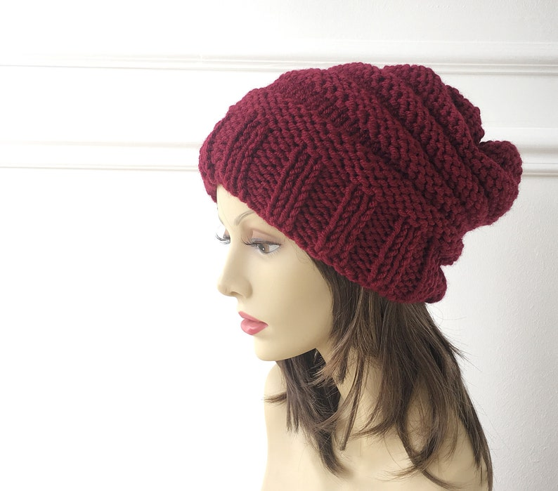 Knit Hat  Winter Hat  Slouchy Hats  Winter Accessories  image 0