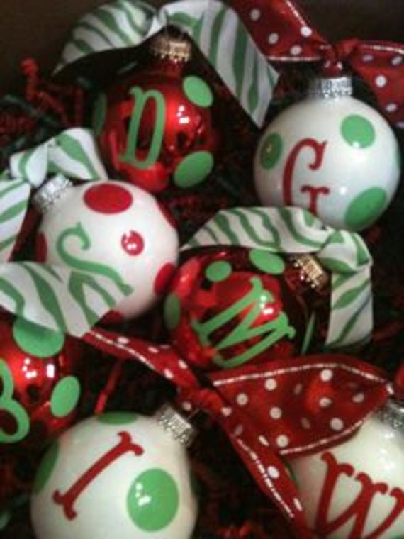 Personalized Christmas Balls.Personalized Christmas Ornaments Christmas Balls Christmas Decor Christmas Tree