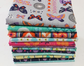 Amira 12 Fat Quarter Bundle designed by Elizabeth Silver for Camelot Fabrics--Butterflies Fabric--Cam-12FQ-Amira