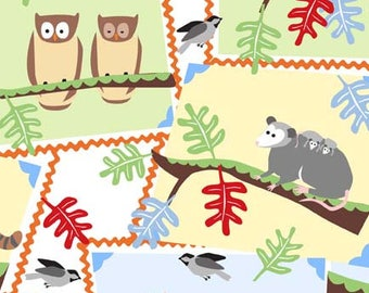 Wendy Slotboom Fabric, Frolic for In the Beginning Fabrics, 2WSA-2 Animal Collage