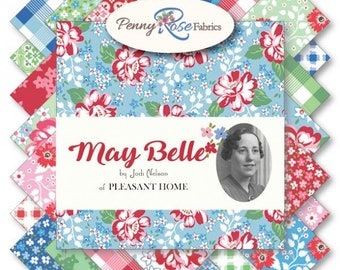 "May Belle 10 Inch Stacker - 42 Pcs by Jodi Nelson, Penny Rose Fabrics for Riley Blake Designs - 10""x10"" Fabric Squares - 10-7650-42"