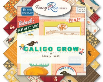 Calico Crow 10 inch Stacker by Lauren Nash for Penny Rose Fabrics, Riley Blake Designs, 42 pieces 10x10 inch squares--10-7300-42