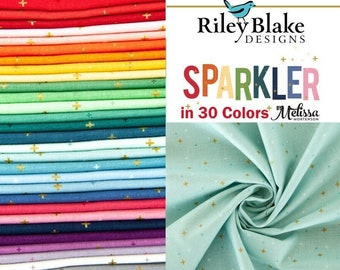 30 Colors By the Half Yard, Riley Blake Basics Sparkler Collection by Melissa Mortenson