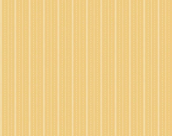Riley Blake Fabric, Sugarhouse Park Stripe Yellow, Cotton Fabric by the Yard and Fat Quarters, Quilting Fabric, C8895-YELLOW