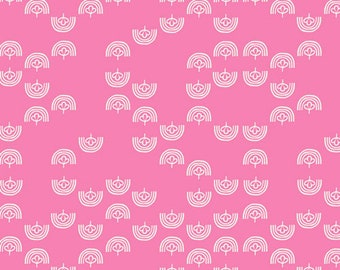 Art Gallery Fabrics, Meowtain Meadows Pink Fabric, Oh, Meow!--Quilters Cotton OEKO-TEX Standard 100 Certified--OHM-33449