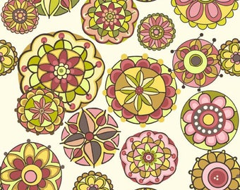 Lila Tueller Fabric, Fiona's Fancy by Lila Tueller for Riley Blake Designs, C2671 Pink Fiona Floral