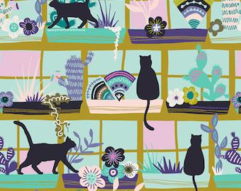 Art Gallery Fabrics, Purrrlandia, Oh, Meow!--Quilters Cotton OEKO-TEX Standard 100 Certified--OHM-33444