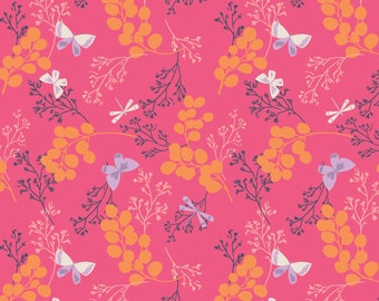 Amira, Camelot Fabrics, Designed by Elizabeth Silver, Twiggy in Pink, Fabric by the Yard, SKU: 27170105 #1