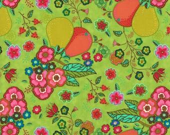 Lily Ashbury Fabric, Trade Winds by Lily Ashbury for Moda Fabrics, 11451-15 Malabar Green