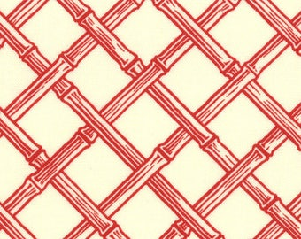 Lily Ashbury Fabric, Trade Winds by Lily Ashbury for Moda Fabrics, 11458-16 Vanilla Moroccan Red