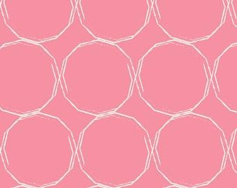 Art Gallery Fabrics, Hula Hoops Blush, Essentials 2--Quilters Cotton Fabric for Masks, OEKO-TEX Standard 100 Certified--ess-II-253