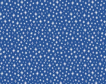 GRL PWR, Riley Blake Fabrics, Blue Girl Power Sparkle, Premium Quilting Cotton Fabric by the Yard, C10654-Blue