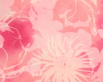 Robert Kaufman Fabric, Mimosa, 10365-193 Summer Mums in Pink