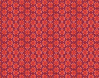 Art Gallery Fabrics, Oval Elements Saffron Red Dots Quilting Fabric--Mask Fabric, OEKO-TEX Standard 100 Certified--OE-929