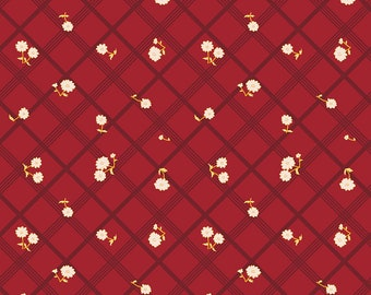 Penny Rose Fabric by the Yard, Calico Crow Plaid, by Lauren Nash for Riley Blake Designs, C7303-RED
