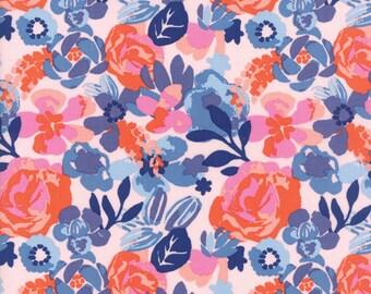 Kate Spain Voyage Fabric by the Yard, Kew in Mandarin, Moda Fabrics, 27281-12