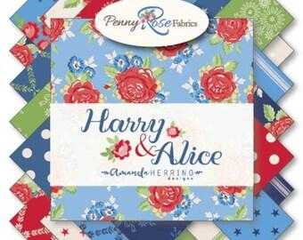"Harry & Alice 5"" Stacker, 42 piece bundle of Designer Quilting Cotton Scraps by Amanda Herring for Riley Blake Designs--5-7490-42"