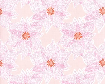 Kate Spain Voyage Fabric by the Yard, Rio in Mandarin, Moda Fabrics, 27284-12