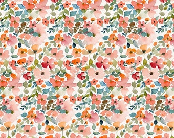 Dear Stella Fabrics, Floral Haze, Creative Cats Cotton Fabric by the Yard and Fat Quarters, Quilting Fabric, STELLA-DCJ1690-MULTI