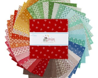 "Prim 5"" Stacker, 42 piece bundle of Designer Quilting Cotton Scraps by Lori Holt for Riley Blake Designs--5-9690-42"