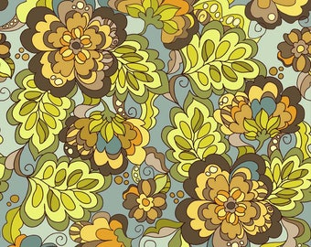 Lila Tueller Fabric, Fiona's Fancy by Lila Tueller for Riley Blake Designs, C2670 Blue Fiona Main Floral