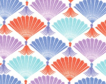 Kate Spain Fabric, Harmony Fans, Good Fortune by Kate Spain for Moda Fabrics, 27103-11