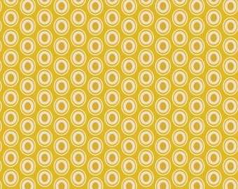 Art Gallery Fabrics, Oval Elements Golden--Quilting and Mask Fabric, OEKO-TEX Standard 100 Certified--OE-911