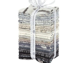FREE SHIPPING: Chalk & Charcoal Fat Quarter Bundle - 26pcs/bundle by Jennifer Sampou for Robert Kaufman Fabrics - FQ-1341-26