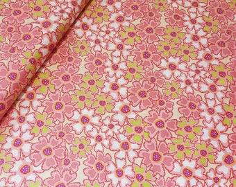 In the Beginning Fabric, Breeze by Wendy Slotboom for In the Beginning Fabrics, 3WSB-1 Pink Flowers