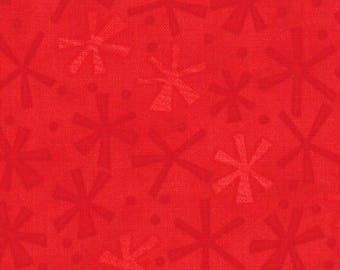 Jenn Ski Fabric, Red Jacks, Ten Little Things by Jenn Ski for Moda, 30505-31