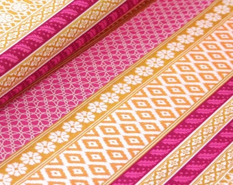 Club Havana Island Ikat Gold, Riley Blake Designs, Club Havana by Patty Young. 100% cotton fabric by the yard, C7281-GOLD