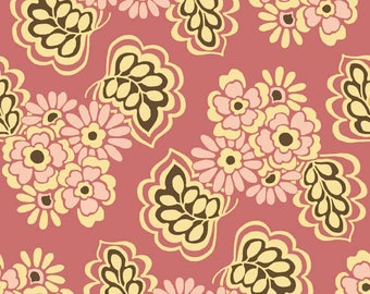 Lila Tueller Fabric, Fiona's Fancy by Lila Tueller for Riley Blake Designs, C2672 Pink Fiona Leaves