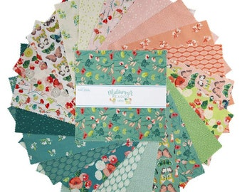 """Midsummer Meado 10 Inch Stacker - 42 Pcs by Katherine Lenius for Riley Blake Designs - 10""""x10"""" Fabric Squares - 10-9810-42"""
