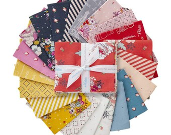 Idyllic Fat Quarter Bundle -  21 Prints, Complete Collection by MinkiKim for Riley Blake Designs--FQ-9880-21