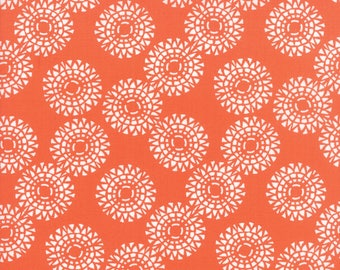 Kate Spain Voyage Fabric by the Yard, Zanzibar in Mandarin Orange, Moda Fabrics, 27286-12