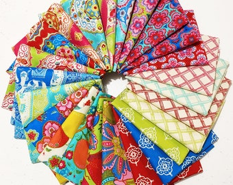 24 Fat Quarters from the Trade Winds Collection by Lily Ashbury for Moda Fabrics--Quilting Fabric Scraps--Prints Vary, See Description