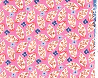 Kate Spain Voyage Fabric by the Yard, Jambi in Mandarin, Moda Fabrics, 27282-16