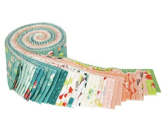 """Midsummer Meadow 2 1/2"""" Rolie Polie - 40 Pcs by Katherine Lenius for Riley Blake Designs - Fabric Strips - RP-9810-40"""