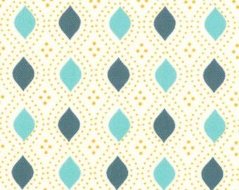 Moda Fabric, Domestic Bliss by Liz Scott for Moda Fabrics, 18077-16 Geometric Beaded Cream Aqua