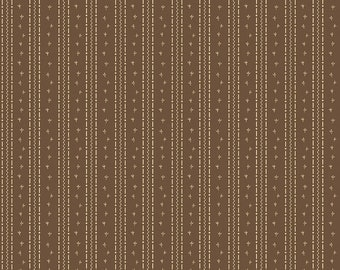 Penny Rose Fabric by the Yard, Calico Crow Tracks, by Lauren Nash for Riley Blake Designs, C7305-BROWN