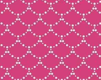 Art Gallery Fabrics, Ripples Pink, PlaygroundMillie Fleur--Quilters Cotton Fabric for Masks, OEKO-TEX Standard 100 Certified--MFL-11351