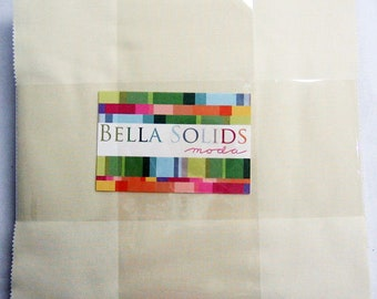 SNOW Layer Cake Bella Solids Moda Basics 42 pieces 10x10 inch squares--cream neutral white--9900LC 11