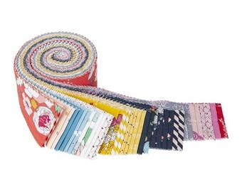 "Idyllic 2 1/2"" Rolie Polie - 40 Pcs by MinkiKim for Riley Blake Designs - Fabric Strips - RP-9880-40"