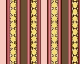 Lila Tueller Fabric, Fiona's Fancy by Lila Tueller for Riley Blake Fabrics, C2676 Pink Fiona Stripe